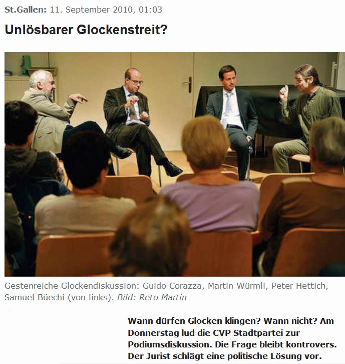 Glockenstreit in St. Gallen: CVP Podiumsdiskussion